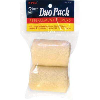 Premier Z-Pro 3 In. x 1/8 In. Mohair Knit Fabric Roller Cover (2-Pack)