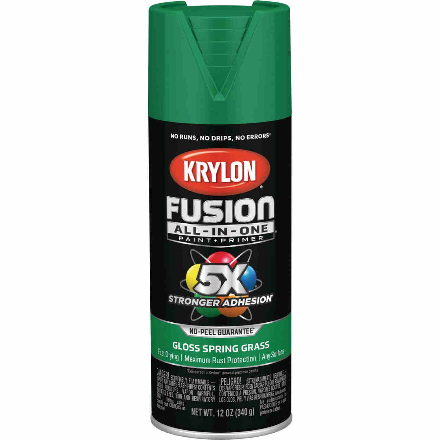 Krylon Fusion All-In-One Gloss Spray Paint & Primer, Spring Grass Image 1