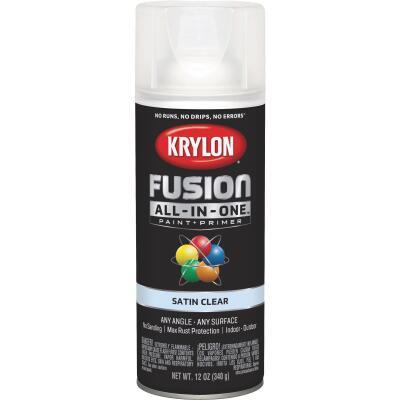 Krylon Fusion All-In-One Satin Spray Paint & Primer, Clear