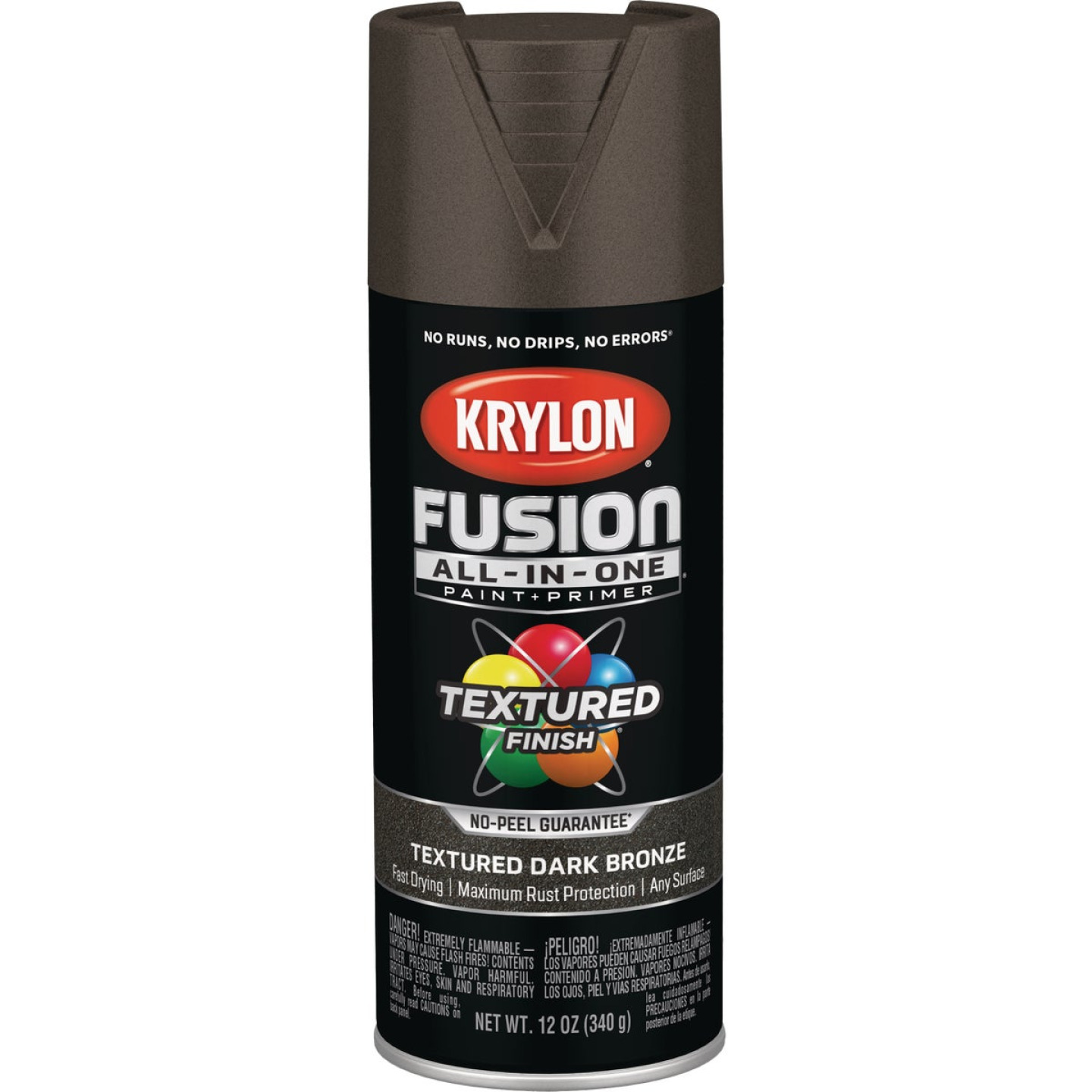 Krylon Fusion All-In-One Textured Spray Paint & Primer, Dark Bronze Image 1