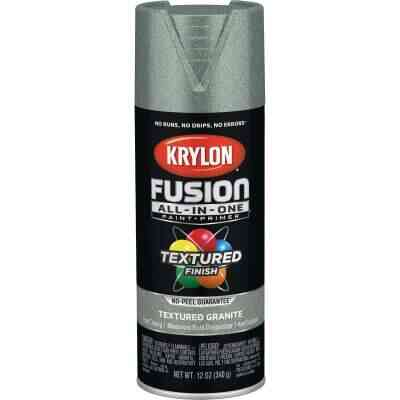 Krylon Fusion All-In-One Textured Spray Paint & Primer, Granite