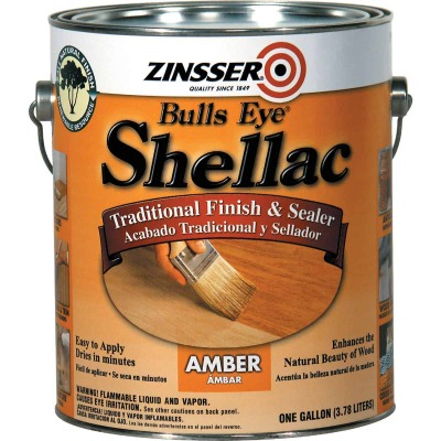 Zinsser Bulls Eye Amber Shellac, Gallon