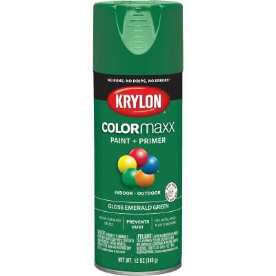 Krylon ColorMaxx 12 Oz. Gloss Spray Paint, Emerald Green