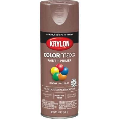 Krylon ColorMaxx 11 Oz. Brushed Metallic Satin Spray Paint, Sparkling Canyon