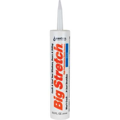 Sashco Big Stretch 10.5 Oz. Acrylic Elastomeric Caulk, Clear