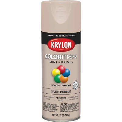 Krylon ColorMaxx 12 Oz. Satin Spray Paint, Pebble