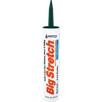 Sashco Big Stretch 10.5 Oz. Pine Green Acrylic Elastomeric Caulk