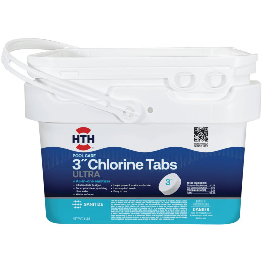 HTH 3 In. 8 Lb. Ultimate Chlorine Tablet