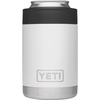 Yeti Rambler Colster 12 Oz. White Stainless Steel Insulated Drink Holder