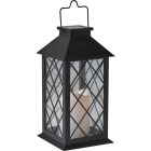 Gardman Cole and Bright 5.5 In. W. x 11 In. H. x 5.5 In. D. Amber Candle Light Plastic LED Solar Lantern Image 1