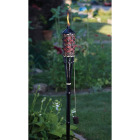 Outdoor Expressions 60 In. Brown Bamboo Patio Torch with Rattan Weave Image 3