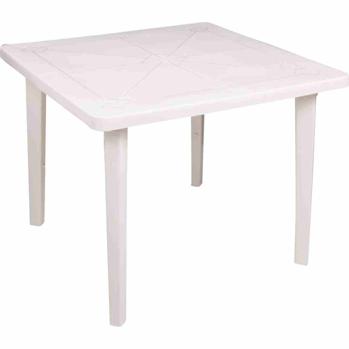 Adams 36 In. Square White Resin Table Image 1