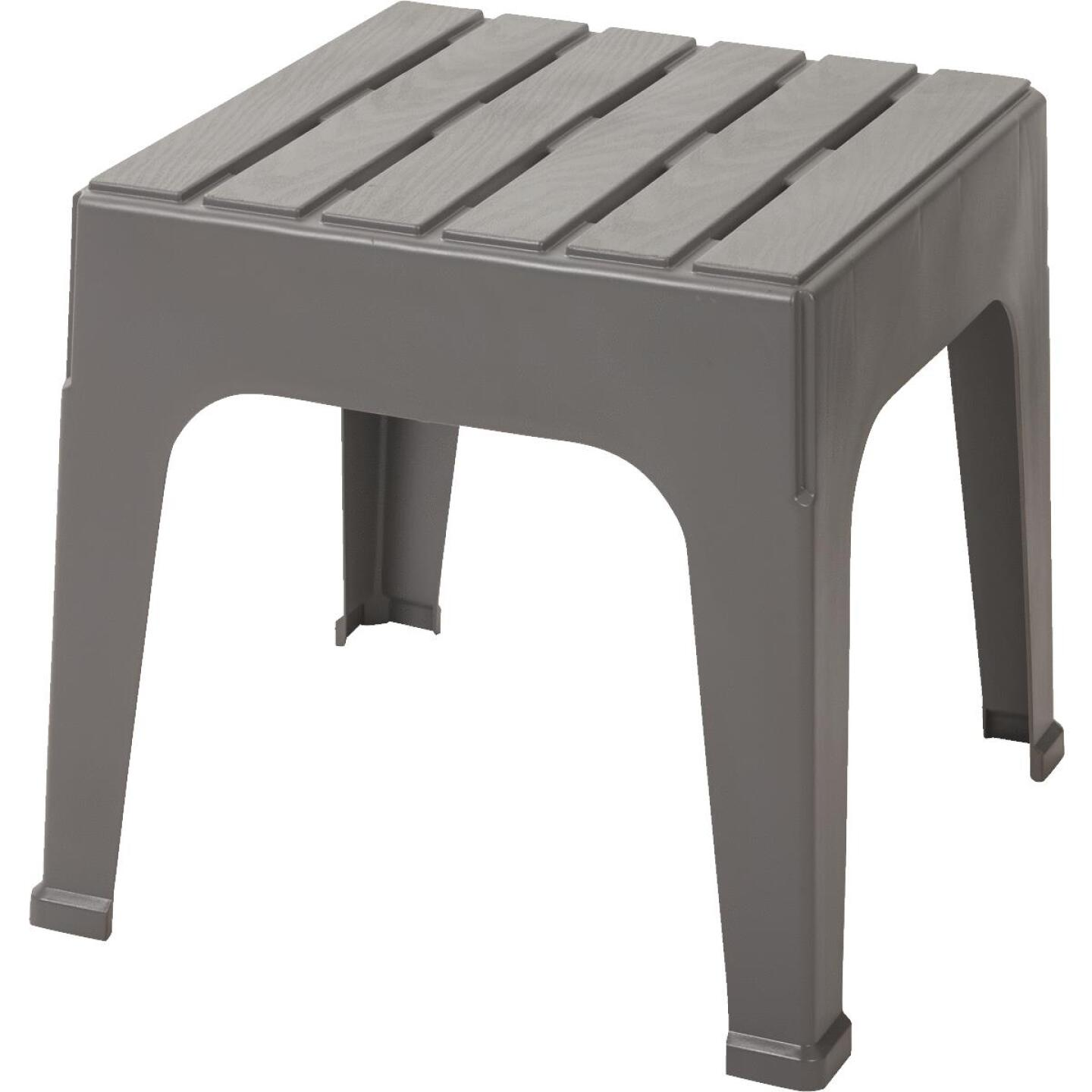 Adams Big Easy Gray 18.9 In. Square Resin Stackable Side Table Image 1