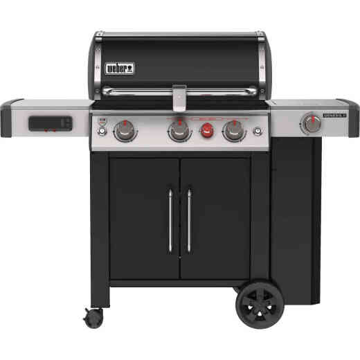 Weber Genesis II EX-335 Smart Grill 3-Burner Black 39,000 BTU LP Gas Grill w/Side Burner & Sear Burner
