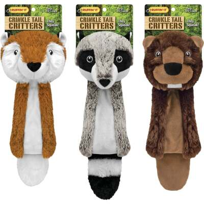 Westminster Pet Ruffin' it Crinkle Tail Critters 24 In. Squeaky Fox Dog Toy