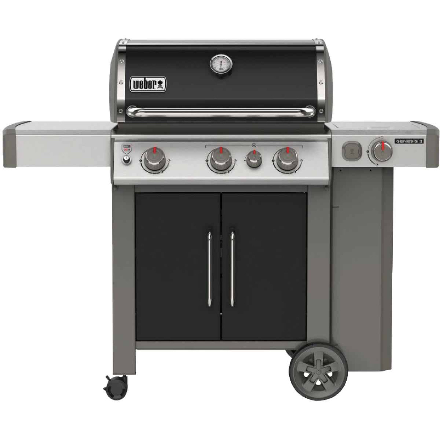 Weber Genesis II E-335 3-Burner Black 39,000 BTU LP Gas Grill with 12,000 BTU Side -Burner Image 1