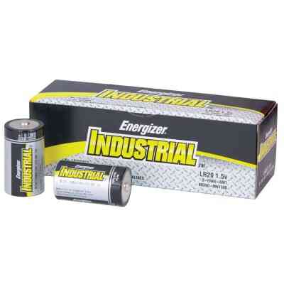 Energizer Industrial D Alkaline Battery (12-Pack)