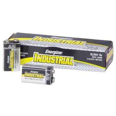 Energizer Industrial 9V Alkaline Battery (12-Pack)