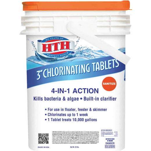 HTH 3 In. 35 Lb. Chlorine Tablet