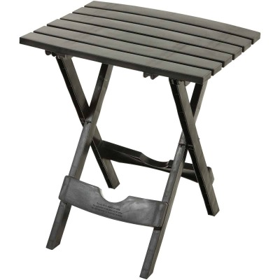 Adams Quik-Fold Black 15.25 In. W. x 17.38 In. L. Rectangle Poly Table